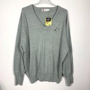 Slazenger Long Sleeve Shirt Sweater Gray Logo